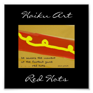 Red Hots Haiku Art Print