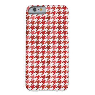 red Houndstooth iphone case