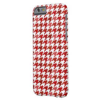 red Houndstooth Pattern Barely There iPhone 6 Case