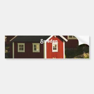 Red Houses in Sweden Bumper Sticker