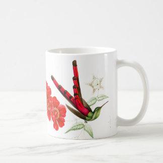Red Hummingbird Birds Wildlife Floral Animals Mug