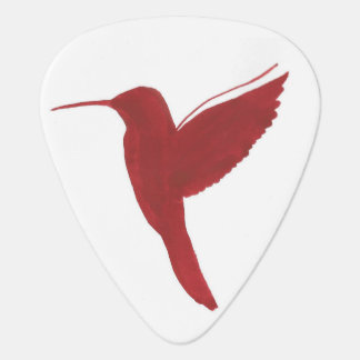 Red Hummingbird Guitar Pick