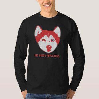 Red Husky Revolution Black Long Sleeve T T-Shirt