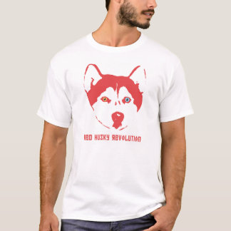 Red Husky Revolution White T-Shirt