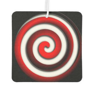 Red Hypnotic Spiral Car Air Freshener