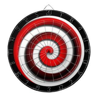 Red Hypnotic Spiral Dartboard