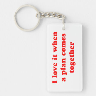 Red I Love It Single-Sided Rectangular Acrylic Keychain