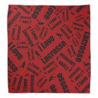 Red I love lacrosse Bandana