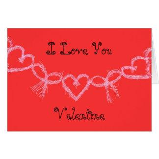 Red I love you Valentine Card