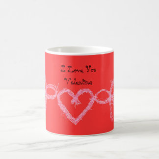 Red I love you Valentine Coffee Mug