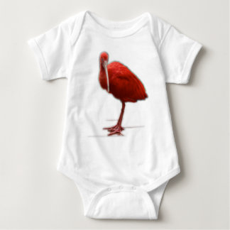 Red Ibis give this to the bird lover in your life Baby Bodysuit