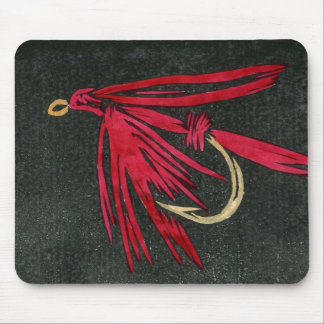 """Red Ibis"" Trout Fly Mousepad"