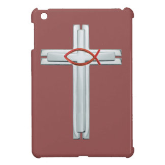 Red Ichthus Cross iPad Mini Case