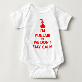 (RED) I'm Punjabi and We Don't Stay Calm Baby Bodysuit