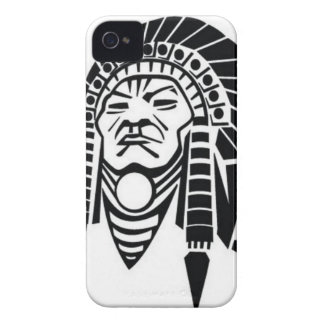 Red Indian art Case-Mate iPhone 4 Cases