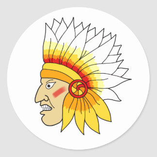 Red Indian Head Stickers
