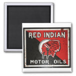Red Indian Motor Oil sign rusted vers. Magnets