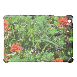 Red Indian Paintbrush flowers Cover For The iPad Mini