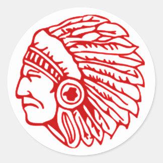 Red Indian Sticker