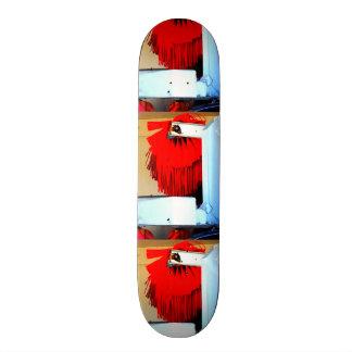 RED, INDUSTRIAL SCENE SKATEBOARD