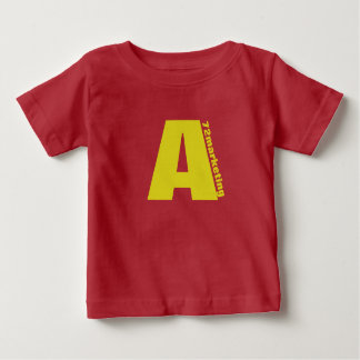"Red Initial ""A"" baby shirt chipmunks 72marketing"