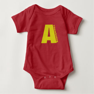 "Red Initial ""A"" baby top chipmunks 72marketing"