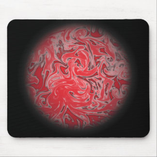 Red Ink Globe Mouse Pad