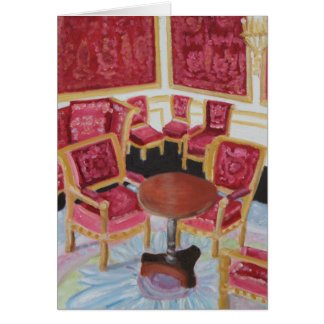 Red Interior:Chateau de Fontainebleau Note Card