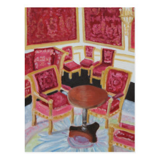 Red Interior:Chateau de Fontainebleau Postcard
