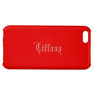 Red iPhone 5 Glossy finish case of Tiffany iPhone 5C Cases