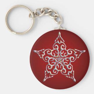 Red Iridescent Star Keychain