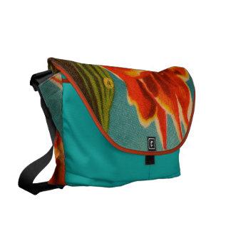 Red Iris Courier Bag