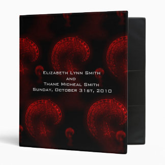 Red Iris Gothic Photo Album 3 Ring Binders