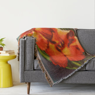 Red Iris Throw