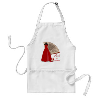 Red is a Statement Standard Apron