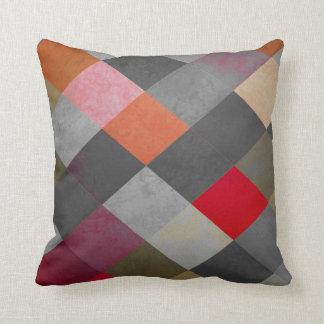 Red-ish Diamond Throw Pillow