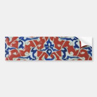 Red Iznik Turkish Tile Ottoman Empire Bumper Sticker