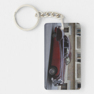 Red Jaguar Mark IX Double-Sided Rectangular Acrylic Keychain