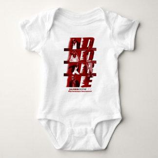 RED James Dore' Infant Onsie White Baby Bodysuit