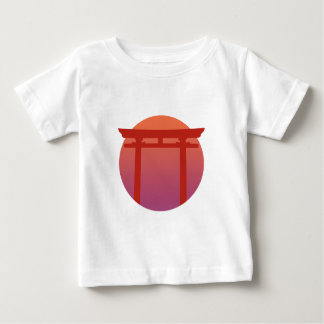 Red Japanese Torri Gate - Sunset - Zen - Japanese Baby T-Shirt