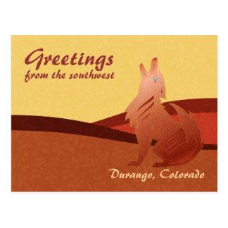Red Jasper Coyote Postcard