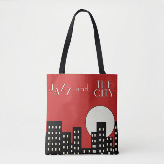 Red Jazz and the City Tote Bag