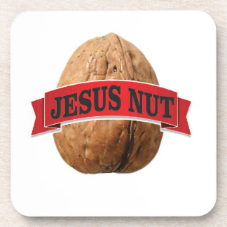 red Jesus nut Coaster
