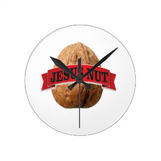 red Jesus nut Round Clock