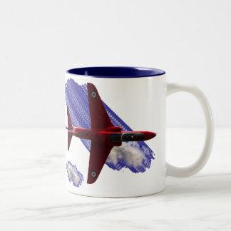 Red Jet Two-Tone Coffee Mug