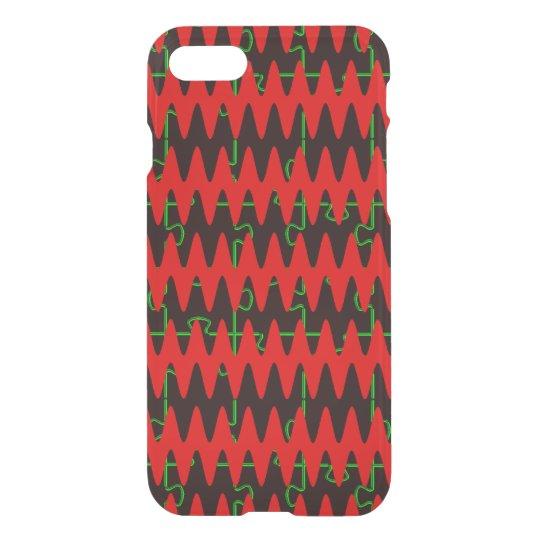 Red jigsaw Sine Waves iPhone 8/7 Case