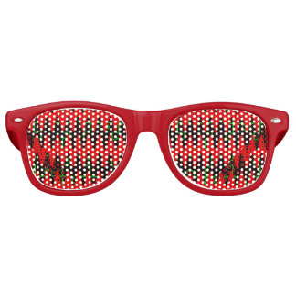 Red jigsaw Sine Waves Party Shades