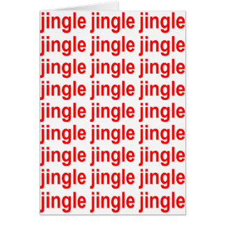 Red Jingle Jingle Jingle Christmas Card