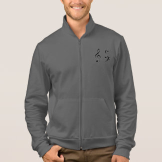 Red Jogger Jacket w. a Range of Dark Musical Clefs