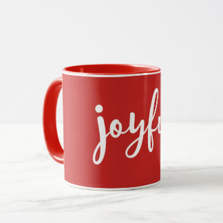 RED | Joyful Modern Holiday Mug